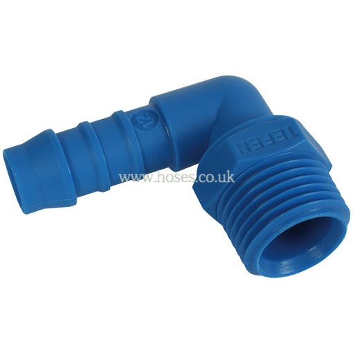 Tefen bspt male elbow hose connector nylon fitting