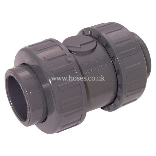 Air pro check valve double union epdm seal upvc pipe