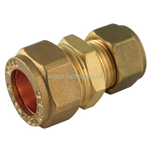 Reducing straight coupling metric brass plumbing