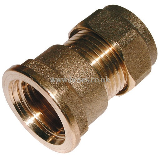 Bspp female metric straight coupling brass