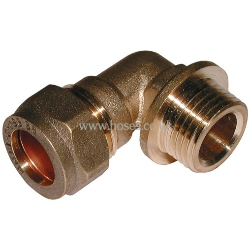 Bspp male metric elbow brass plumbing