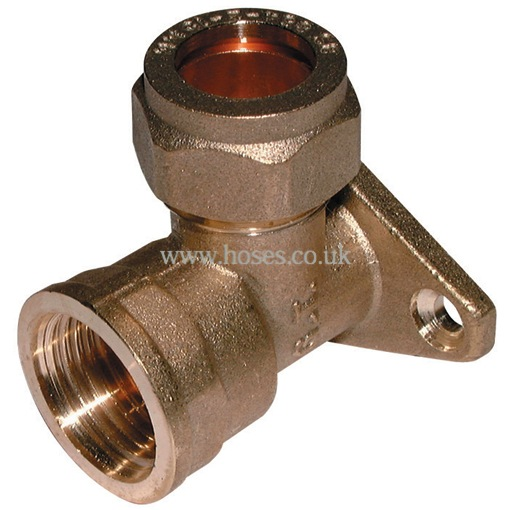 Bspp wall plate elbow metric brass plumbing compression