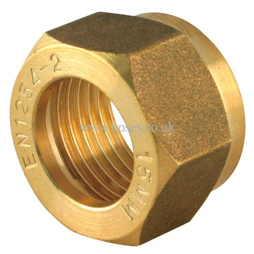 Nut metric brass plumbing compression fitting p