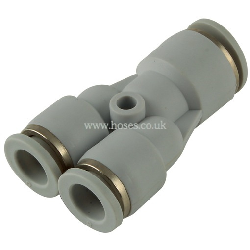 Kelmk unequal y tube connector one touch plastic