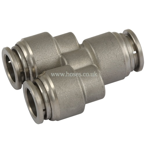 Equal y tube connector one touch all stainless