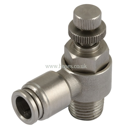 Bspp speed control valve one touch all stainless steel