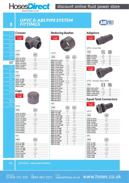 Air pro reducing socket upvc pipe system fitting