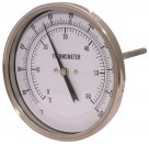 Air-Pro BSPP, Stainless Steel Case, Back Entry, Bi-Metallic Thermometer, Temperature Gauge
