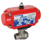 Prisma BSPP, Double Acting, Pneumatic Actuated 2 Piece, 3 Way Stainless Steel Ball Valve