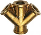 Female Thread , BSPP Triple Outlet Brass Adaptor