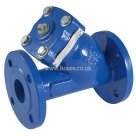 PN16, BS EN 1092-2, Art 185, Flanged, Y Strainer, Cast Iron Valve