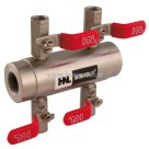 "HNL 1/2"" BSPT Inlet x 1/4"" BSPT Outlet, Stainless Steel 4, 6 & 10 Way Manifold"