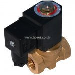 M&M BSPP, Compact Version, 2/2 Way Pilot Operated Solenoid Valve with Assisted Lift