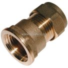 BSPP Female x Metric Straight Coupling, Metric Brass Plumbing Compression Fitting