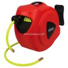 15 Metre Hi-Vis Hose Length, Air & Water Hose Reel