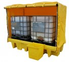 100% Polyethylene, Chemical Compatibility, Drum Covered Spill Pallet