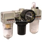 BSPP, Filter + Regulator + Lubricator, Supplied With Mounting Bracket and Gauge, 0-10 Bar, Professional Range