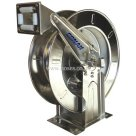 "Conah 3/8"", Spring Rewind, No Hose, Mountable Stainless Steel Hose Reel"