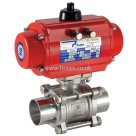 Prisma Double Acting, Pneumatic Actuated 2 Way Stainless Steel Sanitary Valve