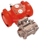 Prisma BSPP, Single Acting, Spring Return, Pneumatic Actuated S/Steel Ball Valve