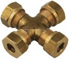 Equal Ended Crosses Imperial Brass Compression Fittings