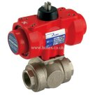 Prisma BSPP, L Ported, Double Acting, Pneumatic Actuated 3 Way Brass Valve