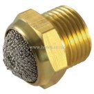 Aignep Metric and BSPP, 7020, Male Thread, Flat Brass and Sintered Bronze Silencer