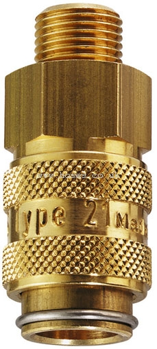 Male Thread BSPP Coupling Series 21KB Parker Rectus Tema ...