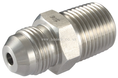 BSPP Male x NPTF Male Hydraulic Stainless Steel Adaptors and Fittings 1//4 X 1//4 BSP//NPT MALE 316 ST.STEEL