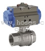 PN64 Single Acting Pneumatically Actuated Stainless Steel Ball Actuator Valve BONOMI GROUP