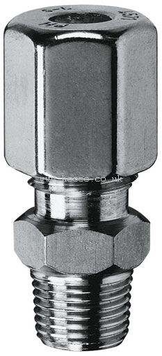 "NEW Male Stud Couplings 10 mm x 1//8/"" stainless steel single ferrule BSP P"