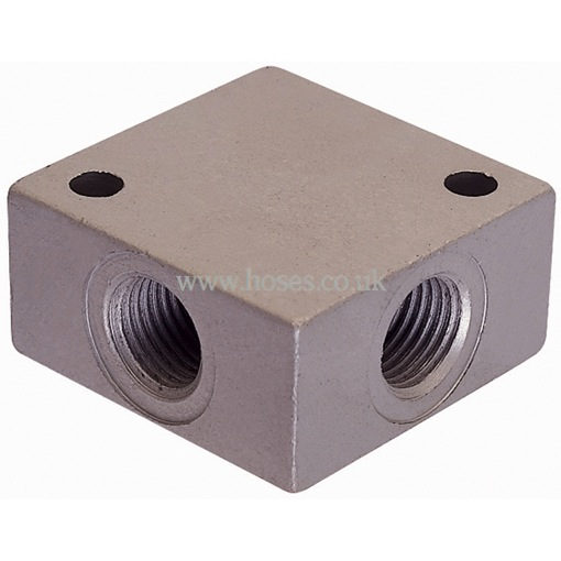 Air pro bspt aluminium female equal cross distribution