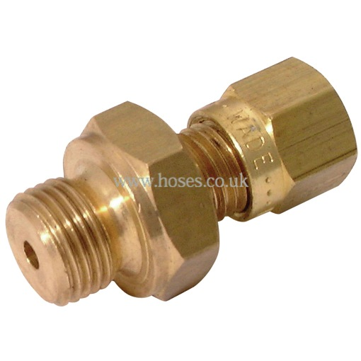 Wade bspp male stud couplings brass compression fittings