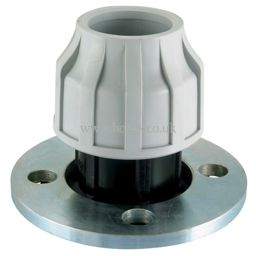 Air pro tube flange compression fitting for polyethylene