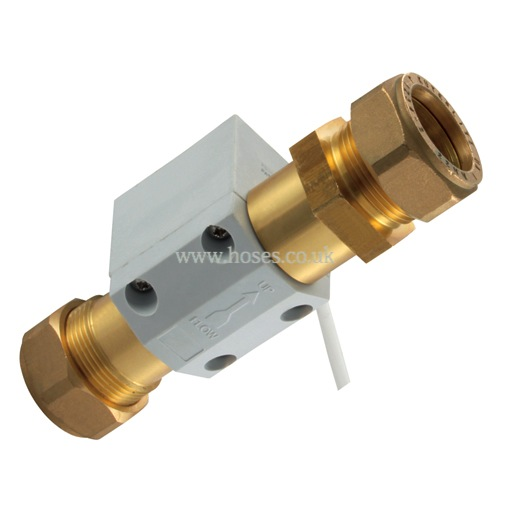 V flow solutions mm compression brass switch