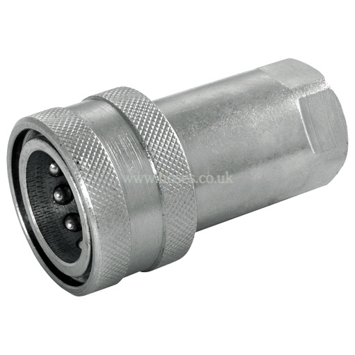 Stainless Hydraulic Quick Coupler : Hy fitt npt stainless steel with nitrile seal iso a