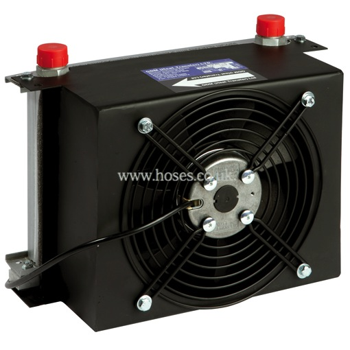 Compact Hydraulic Oil Coolers : Gdm bspp ac range air blown hydraulic oil cooler