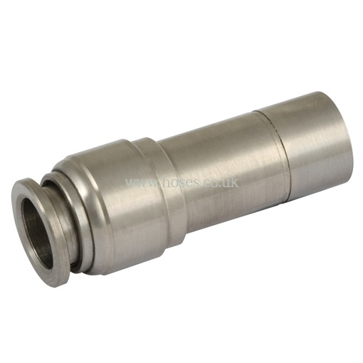 Tube stem reducer connector one touch all stainless