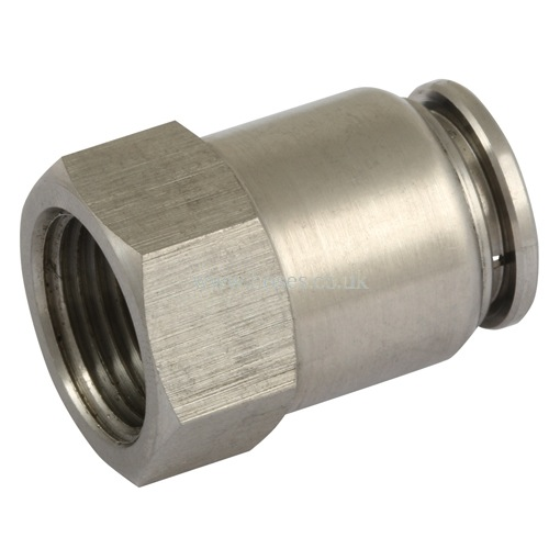 Bspp female stud one touch all stainless steel push in