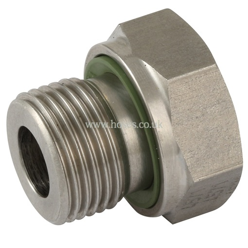 Bspp male female reducing bush stainless steel