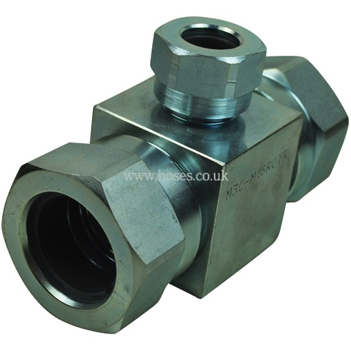 High Pressure Outlet : Kr high pressure metric reducing outlet tee tube